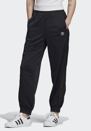 LACE TRACKSUIT BOTTOMS - Tracksuit bottoms - black