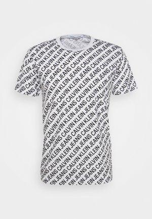 DIAGONAL TEE - T-shirt con stampa - bright white