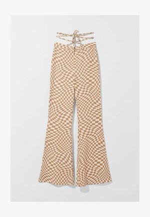 MIT PRINT  - Trousers - beige
