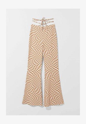 MIT PRINT  - Kalhoty - beige