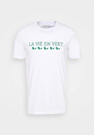 LA VIE UNISEX - Print T-shirt - white