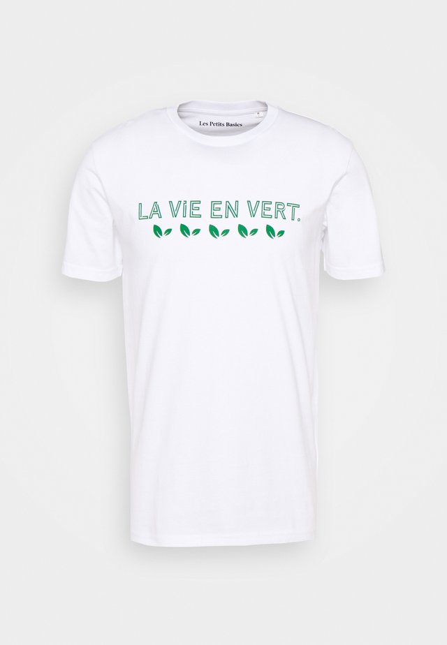 LA VIE UNISEX - T-shirt con stampa - white
