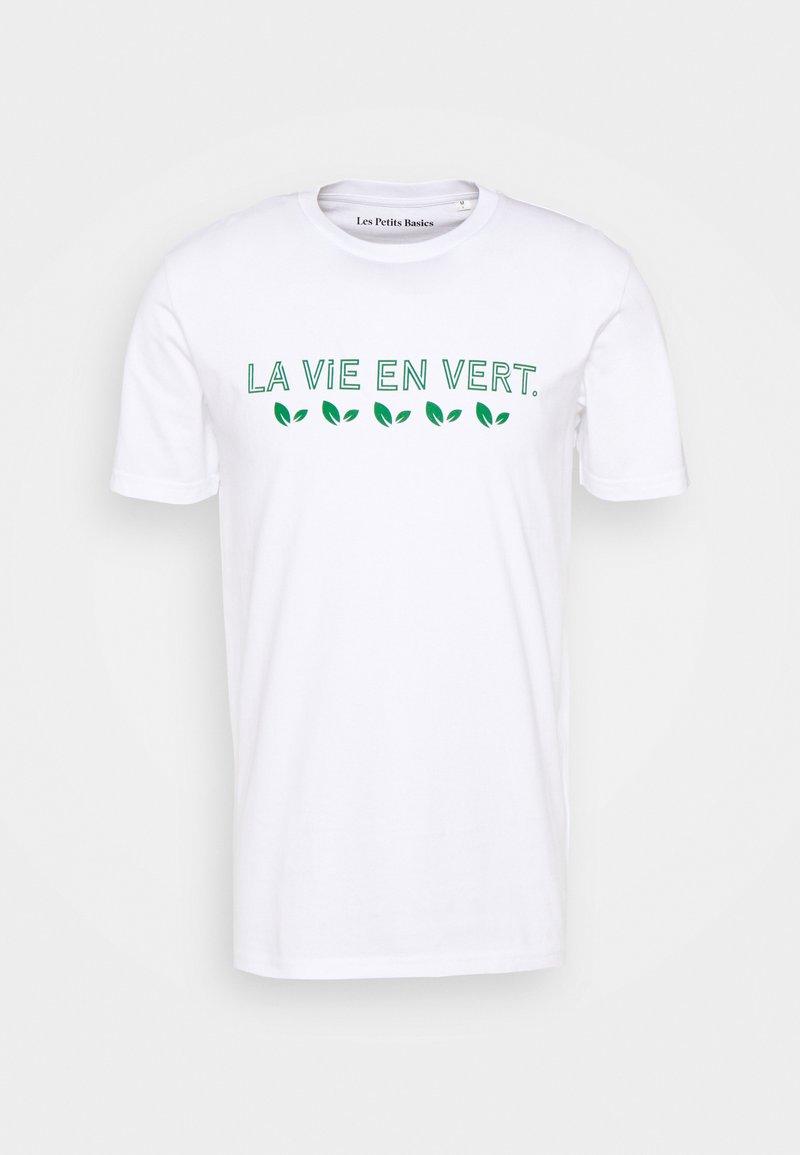 Les Petits Basics - LA VIE UNISEX - Print T-shirt - white