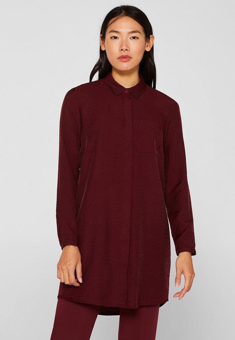 Esprit - IM STREIFEN-LOOK - Button-down blouse - garnet red