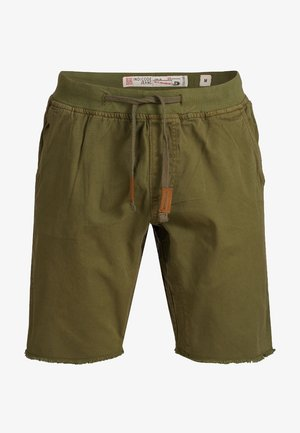 CARVER - Denim shorts - grren