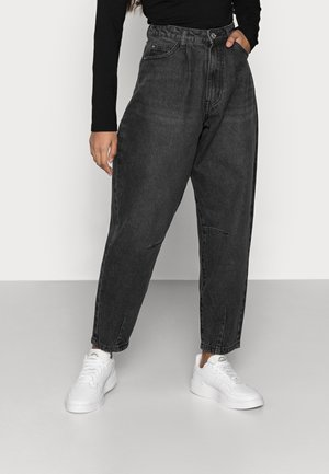 HIGH RISE CARROT - Jeansy Relaxed Fit - black
