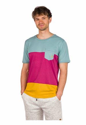 ERIK - Print T-shirt - beaujolais/blue