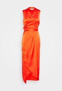 Never Fully Dressed - TANGERINE SLEEVELESS WRAP DRESS - Cocktail dress / Party dress - tangerine - 4