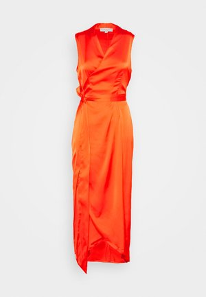 TANGERINE SLEEVELESS WRAP DRESS - Cocktail dress / Party dress - tangerine