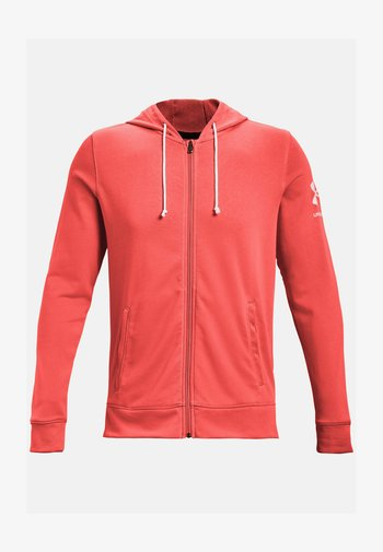 RIVAL TERRY - Zip-up hoodie -  red