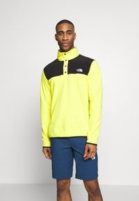 The North Face - MENS GLACIER SNAP NECK - Sweat polaire - lemon/black - 0