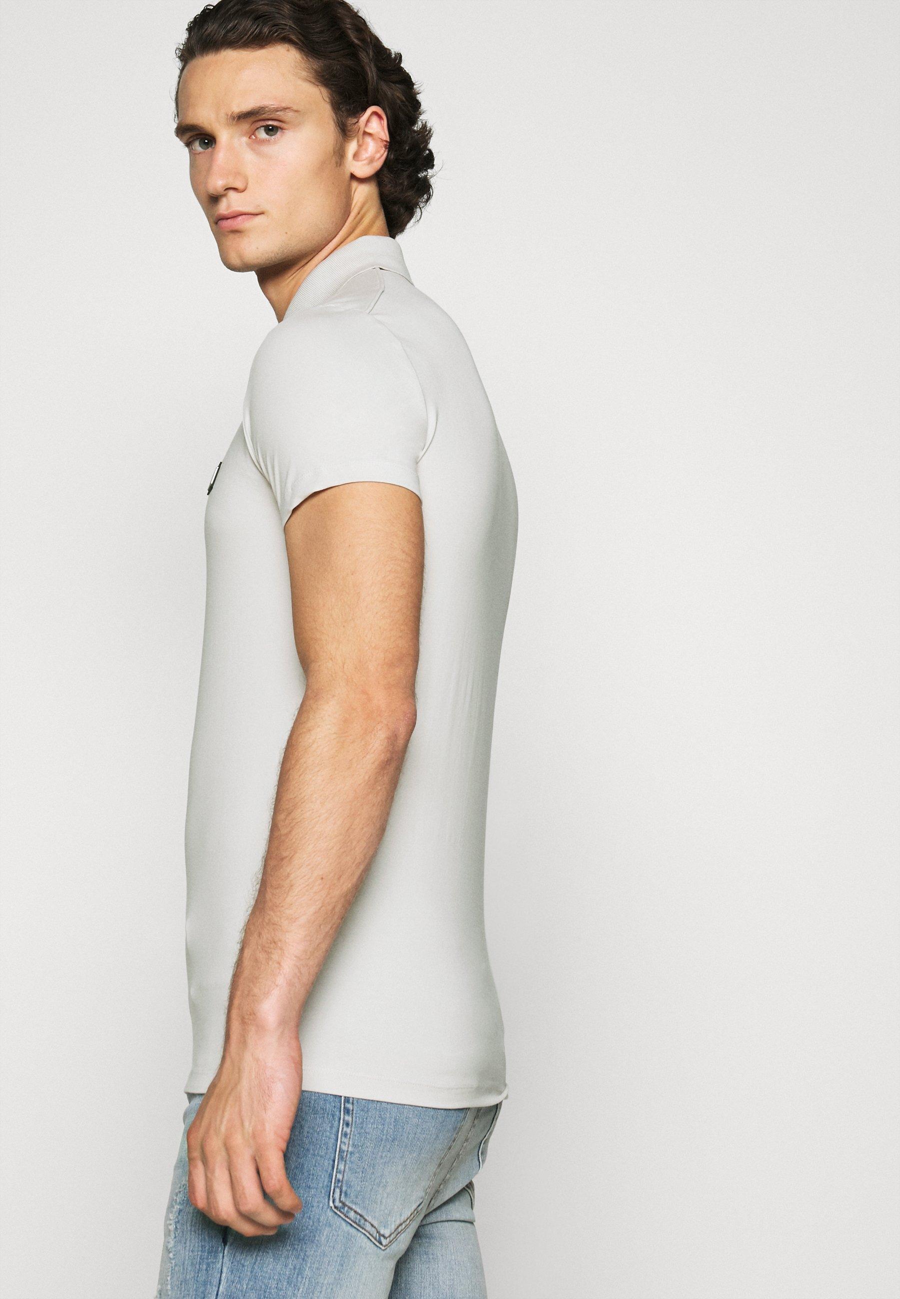 Antony Morato PLATE ON FRONT - Polo shirt - ice 1yUwp