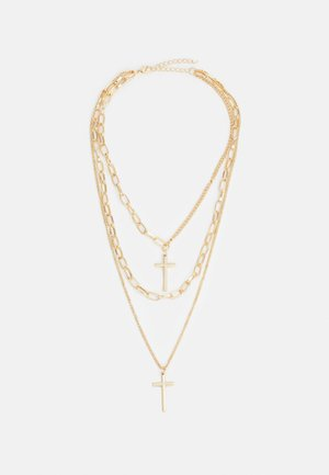 LAYERING CROSS NECKLACE UNISEX - Necklace - gold-coloured
