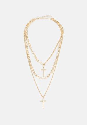 LAYERING CROSS NECKLACE UNISEX - Naszyjnik - gold-coloured
