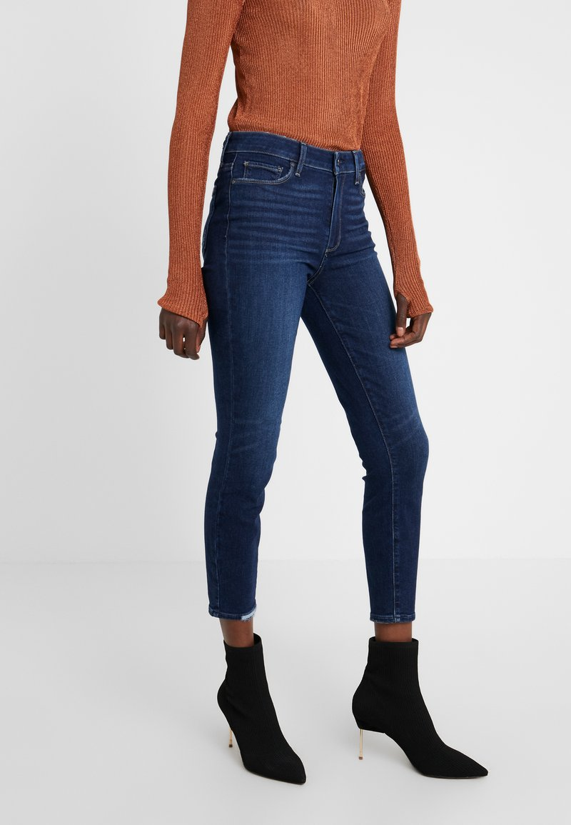 Paige - HOXTON CROP - Jeans Skinny Fit - dark-blue denim