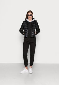 Calvin Klein Jeans - BACK LOGO ELASTIC MOTO JACKET - Winter jacket - black - 1