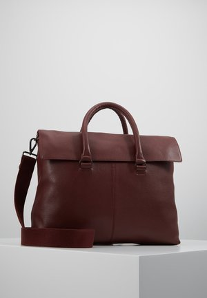 LEATHER UNISEX - Briefcase - bordeaux