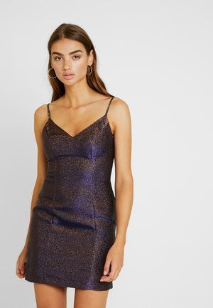 TWO TONE - Jersey dress - bronze