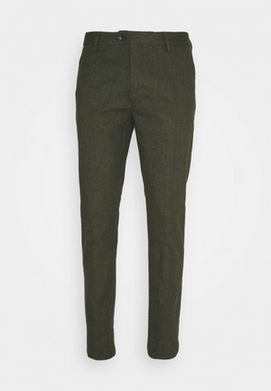 MOTT CLASSIC IN BRUSHED YARN DYED QUALITY - Chinos - military