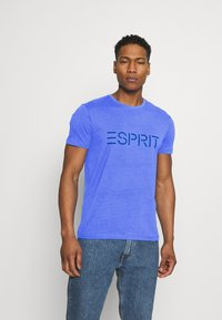 Esprit - LOGO - Print T-shirt - blue - 0