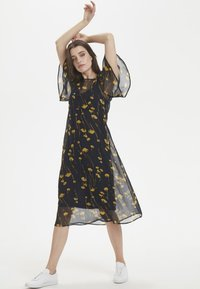 Soaked in Luxury - Maxi dress - navy/yellow - 1