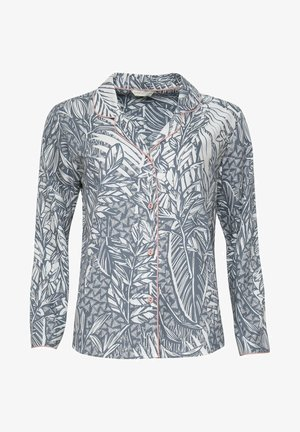 Pyjama top - grey leaf