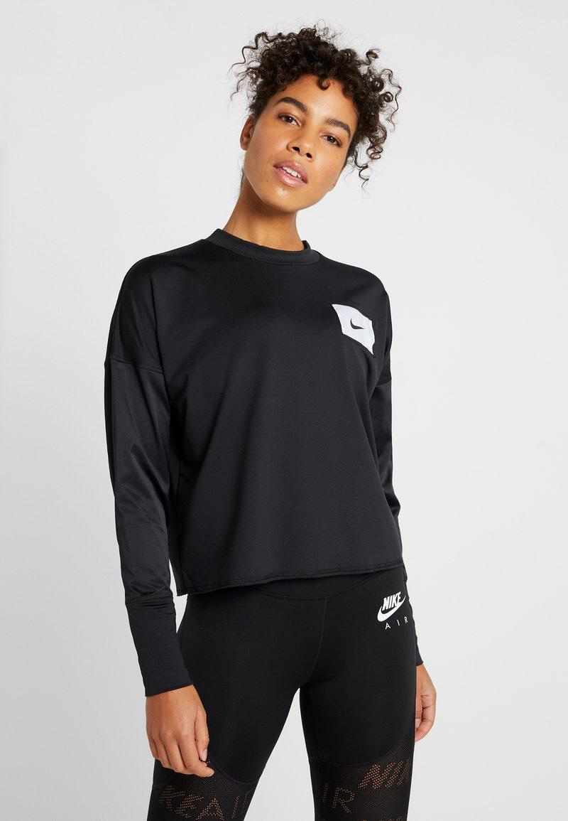 Nike Performance - MIDLAYER CREW REBEL - Funkční triko - black/white