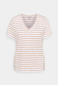 Anna Field - T-shirts med print - white/camel - 0