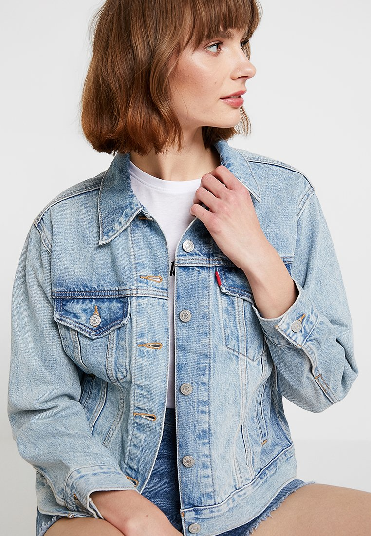 EX BOYFRIEND TRUCKER Spijkerjas blue denim