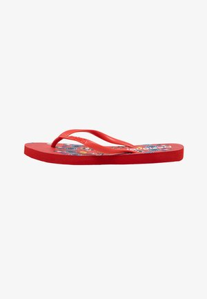 BUTTERFLY - T-bar sandals - red