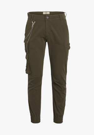 MILTON - Cargo trousers - dark olive