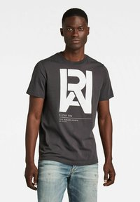 G-Star - GRAPHIC RAW - T-shirt con stampa - raven - 0