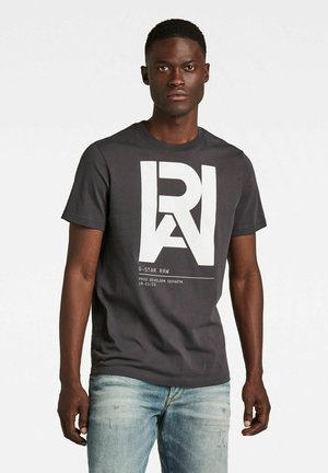 GRAPHIC RAW - T-shirt con stampa - raven