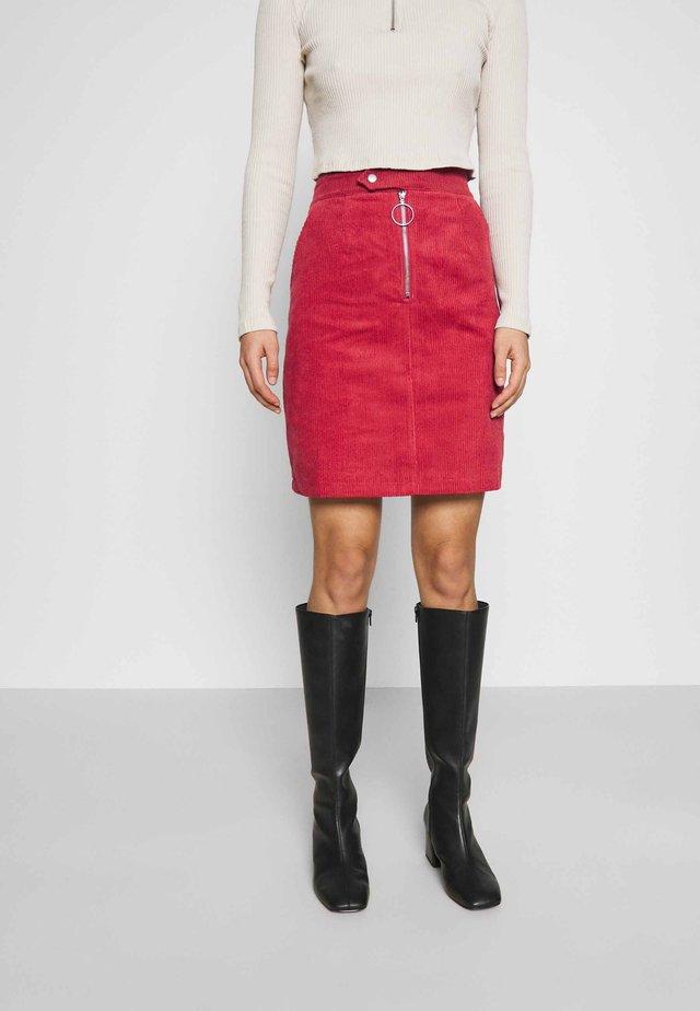 SKIRT - Mini skirt - burnt orange