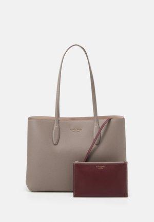 LARGE TOTE SET - Shopping bag - mineral grey