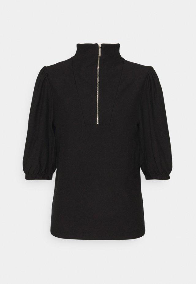 RIFA ZIPPER TEE - T-shirt print - black