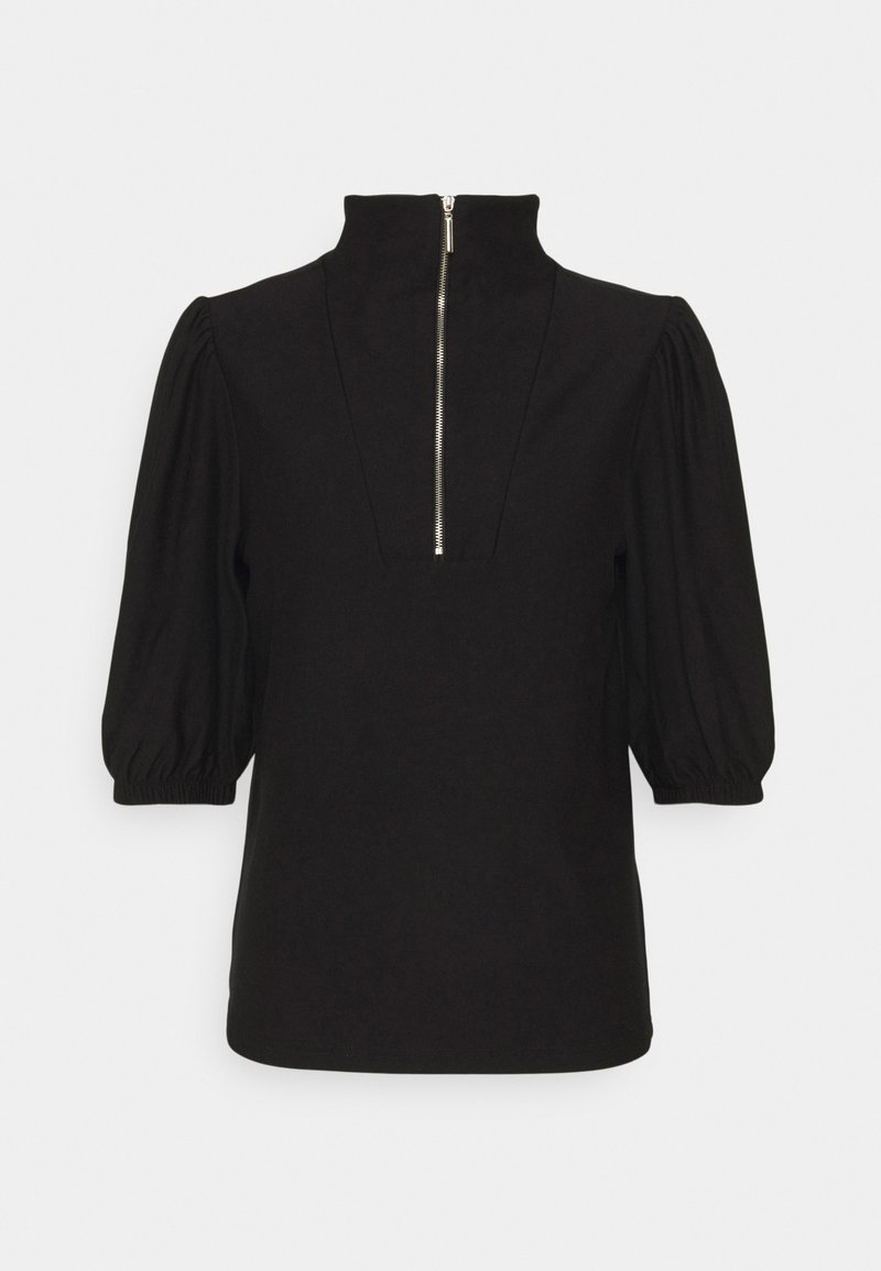 Gestuz - RIFA ZIPPER TEE - Print T-shirt - black