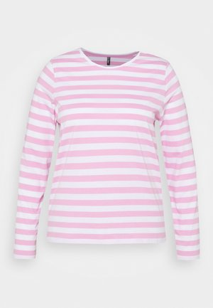 PCRIA NEW TEE - Long sleeved top - bright white/pastel lavender