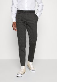 Lindbergh - CHECKED PANTS - Trousers - grey / check - 0