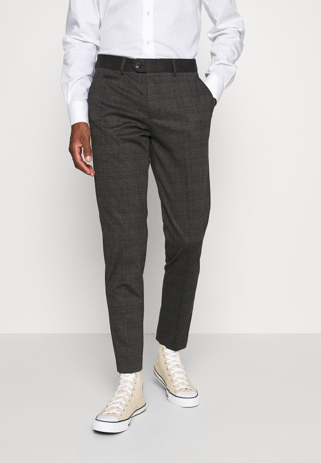 CHECKED PANTS - Kangashousut - grey / check