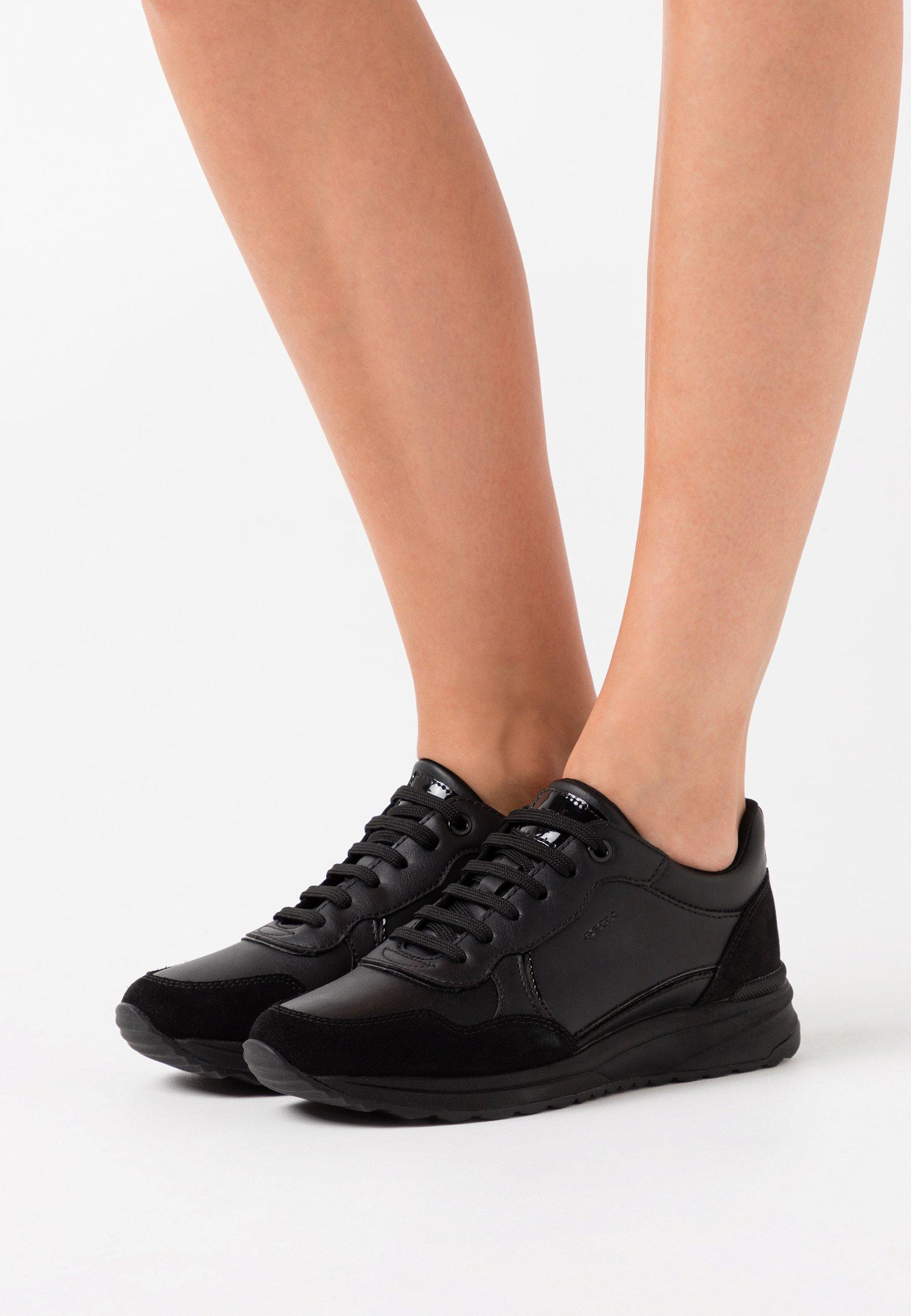 tanio Zniżka Geox AIRELL - Sneakersy niskie - black   Obuwie damskie 2020 HH523