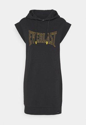 HOODED DRESS  - Denní šaty - black/nuggets