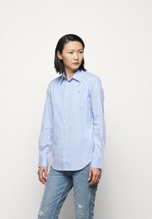 STRETCH - Button-down blouse - medium blue