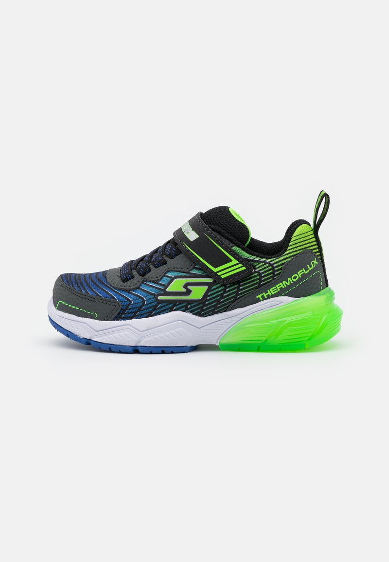 Skechers - THERMOFLUX 2.0 - Tenisky - black/blue/lime/charcoal