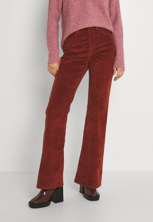 70S HIGH FLARE - Flared Jeans - red