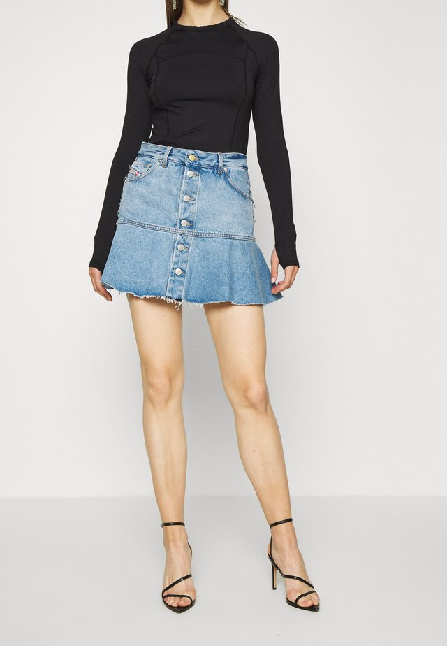DE-BETHY SKIRT - Shorts vaqueros - light blue denim