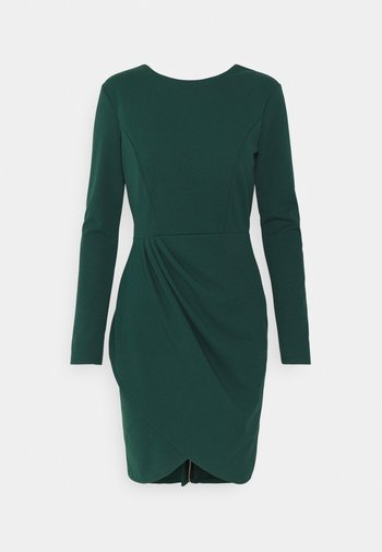 BELIA FULL ZIP DRESS - Shift dress - forest green