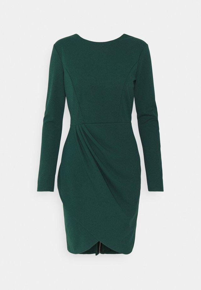 BELIA FULL ZIP DRESS - Etuikjole - forest green