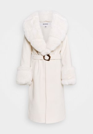 COLLAR CUFF COAT - Mantel - cream