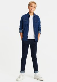 WE Fashion - Slim fit jeans - dark blue - 1